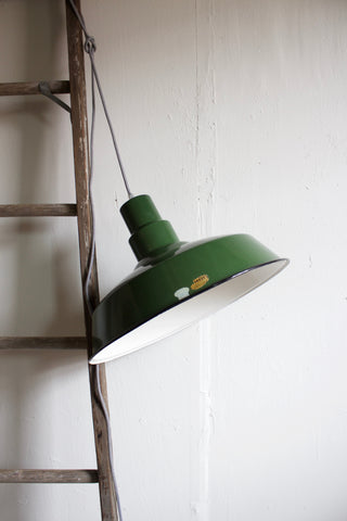 Vintage Industrial Factory Lamp Shade & Pendant Light
