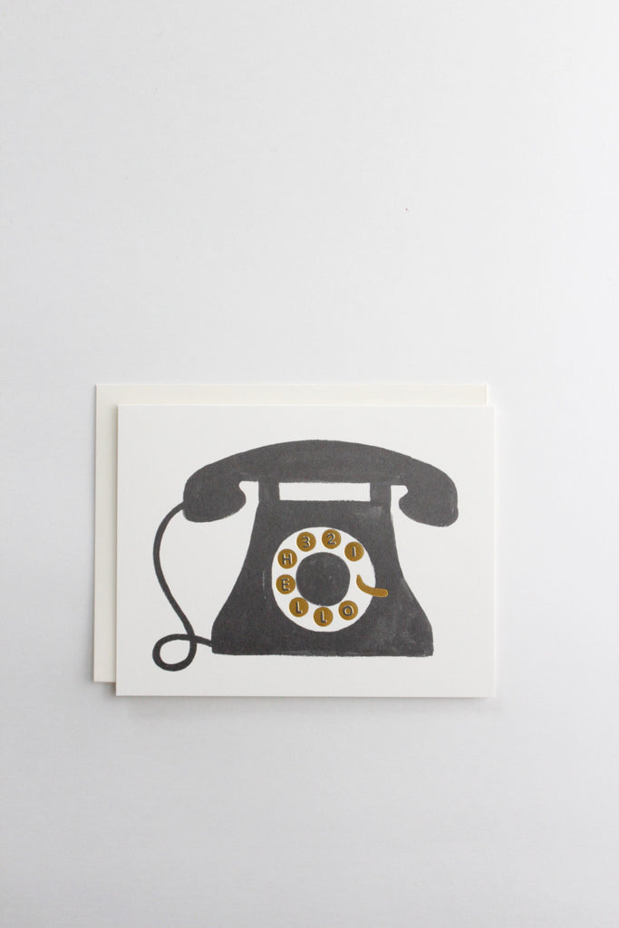 Vintage telephone hello greeting card made by Rifle Paper Co.