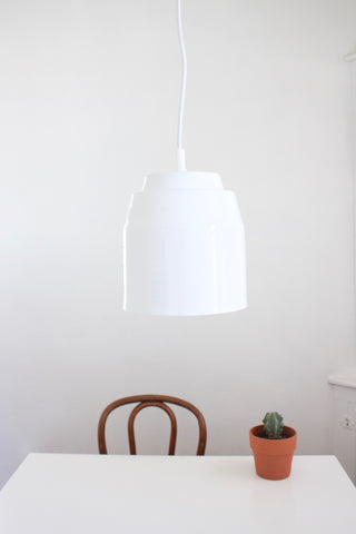 Pail Pendant Light - White