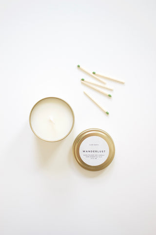 Pine, Frankincense and Cedarwood Natural Travel Candle