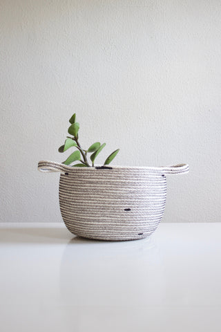 Woven Rope Basket with Handles