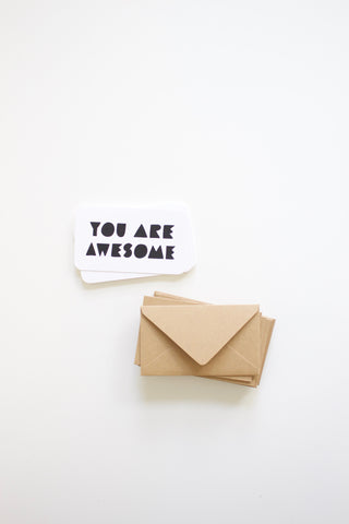 You Are Awesome Mini Note Card Set of 12