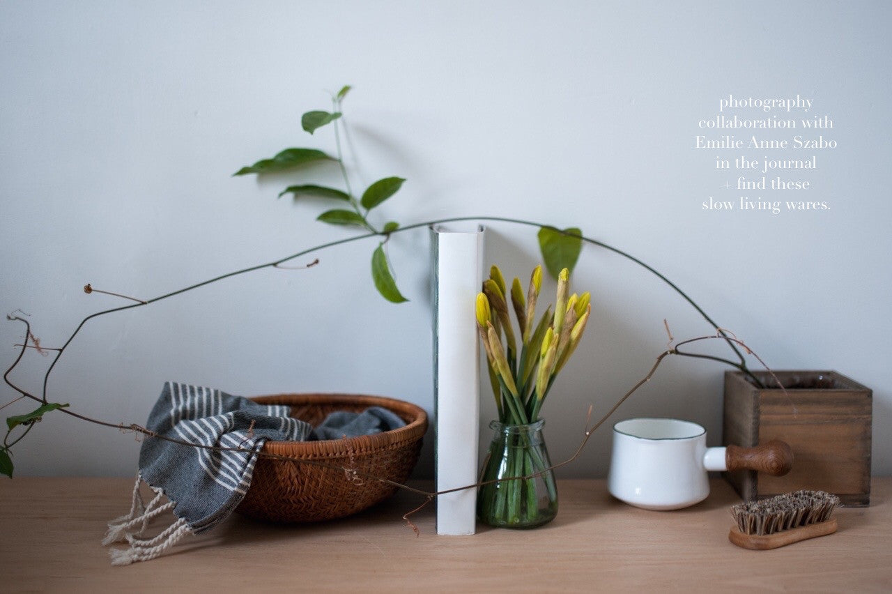 Simple and slow living home wares.