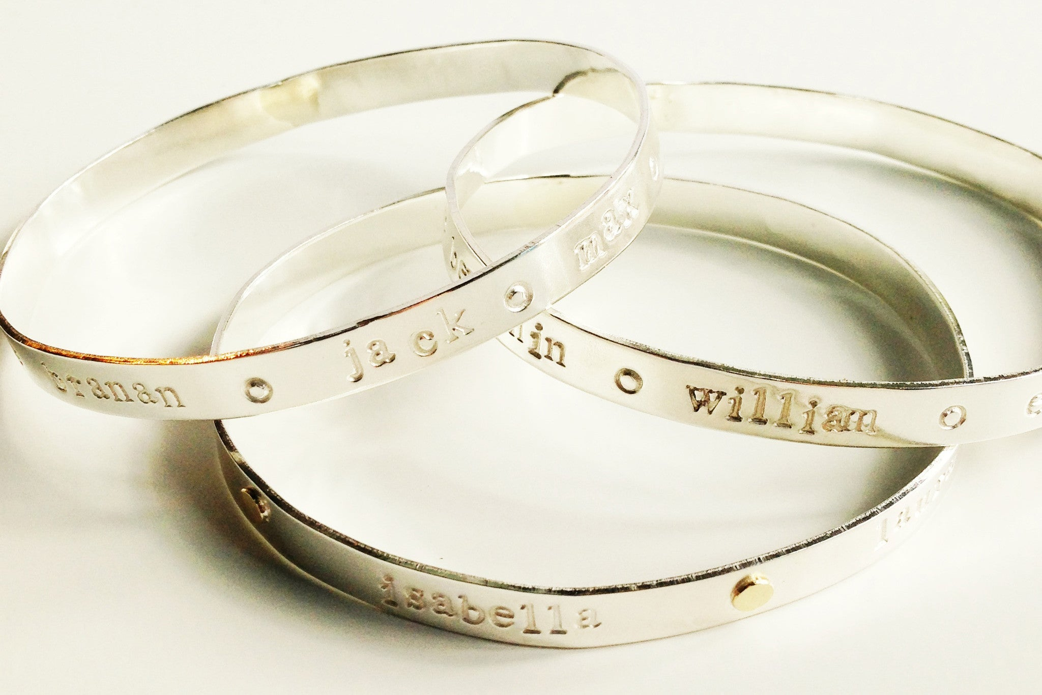 charms image engraving bangles bracelets bagel products bangle stoney personalized creek