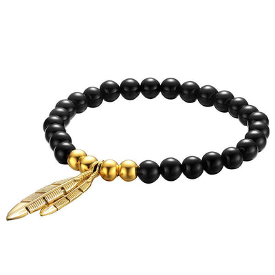 Mister Feather Bead Mens Bracelet - Co. 82