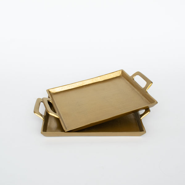 Antique Brass Square Tray