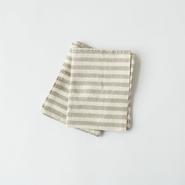 Natural Stripe Linen Towel