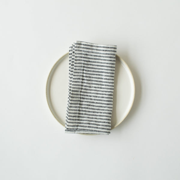Thin Black Stripe Linen Napkin