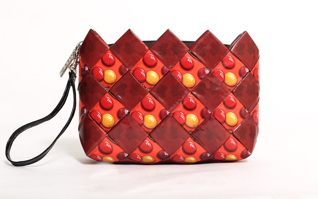 Red & Yellow Sensation Cosmetic Clutch