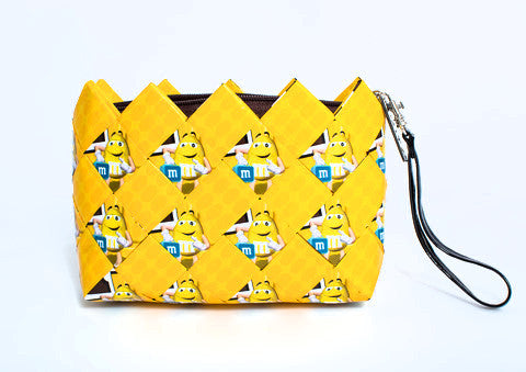 Yellow Happy Face M&M Clutch
