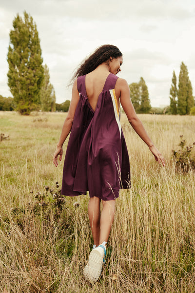 Livia dress in berry combo