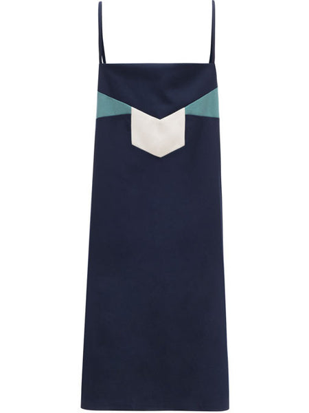 Roxy jo navy twill spaghetti strap dress