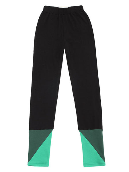 black and green bamboo and cotton RIYKA leggings