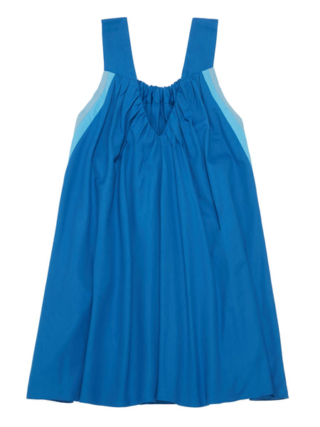 RIYKA Livia dress in blue combo flat back