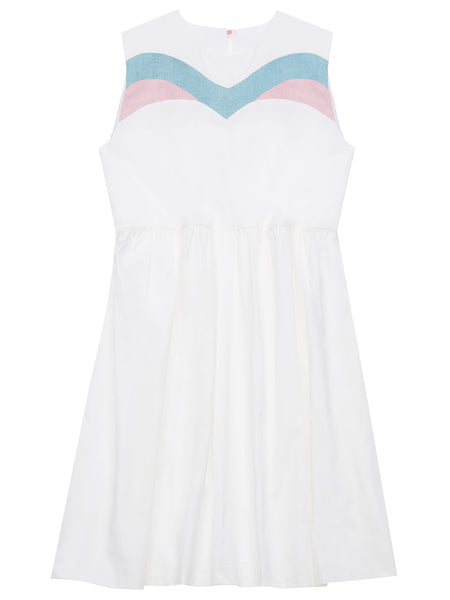 Ivy organic cotton white smock dress