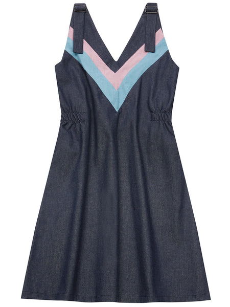 RIYKA organic denim overall dress