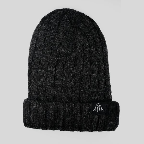 Upper Playground - Lux - UP Cable Cuff Beanie in Charcoal