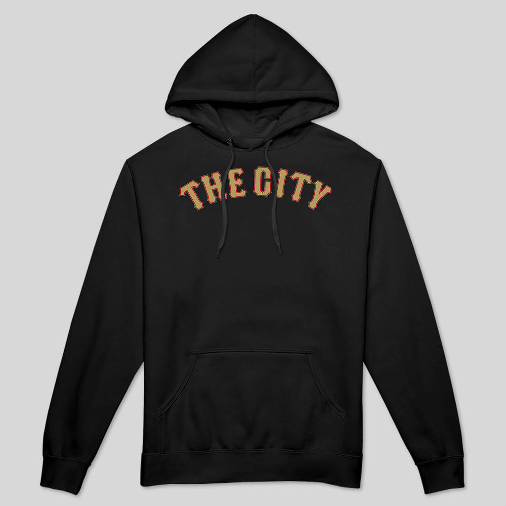 5S - THE CITY IN RED & GOLD -  PULLOVER HOODIE