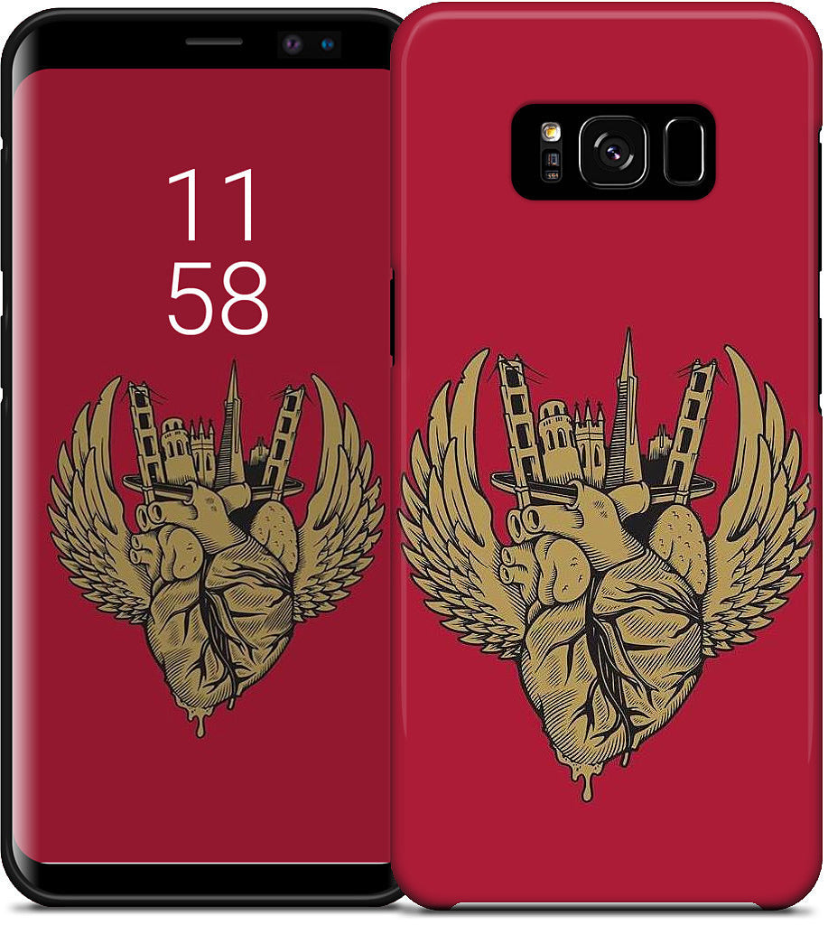 Notion - I Left My Heart - Cardinal Samsung Case