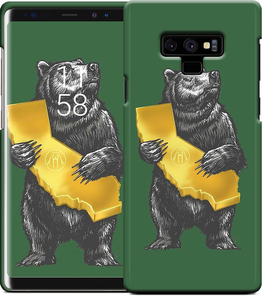 Upper Playground - Cali Bear - Green Samsung Case