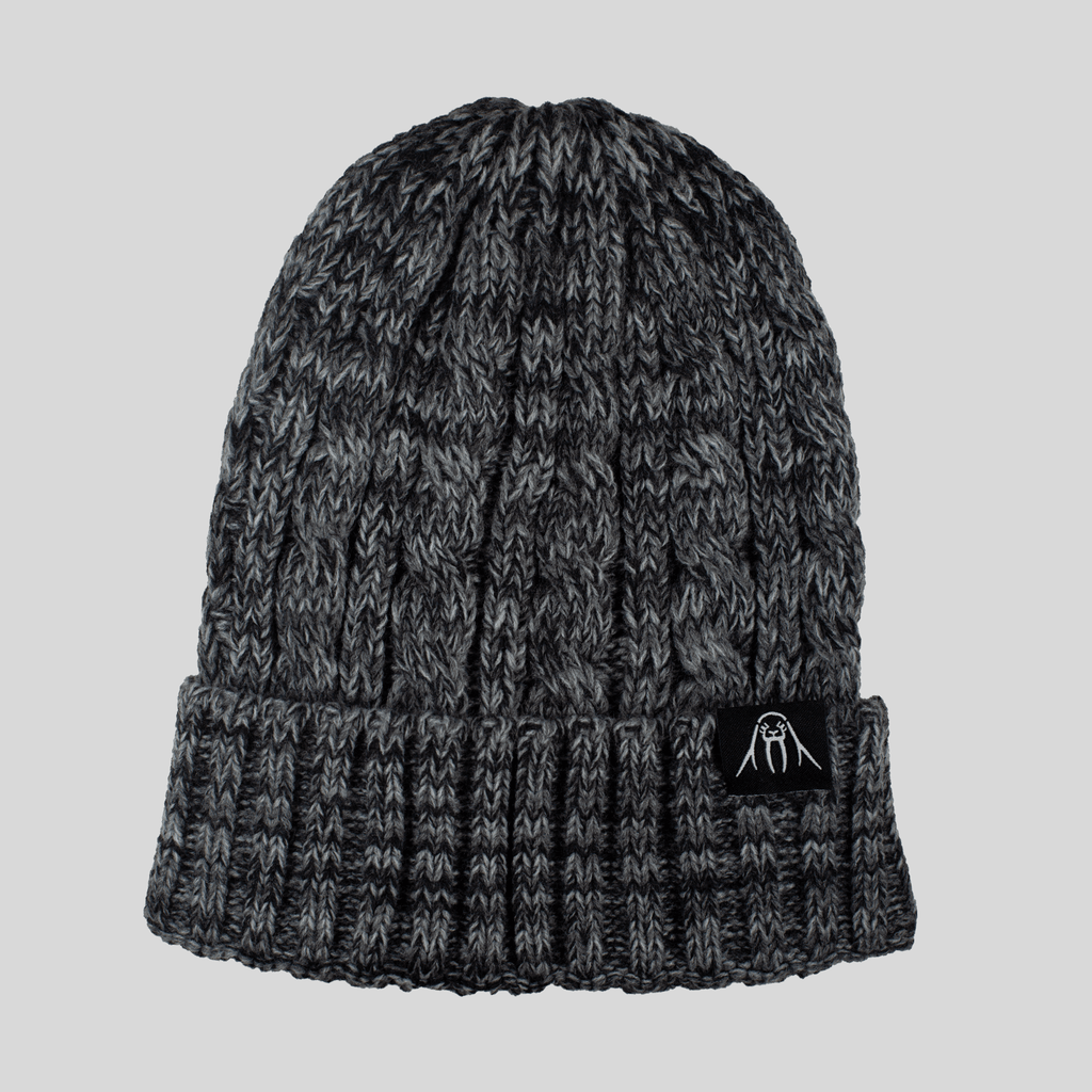 Upper Playground - Lux - UP Cable Cuff Beanie in Heather Gray