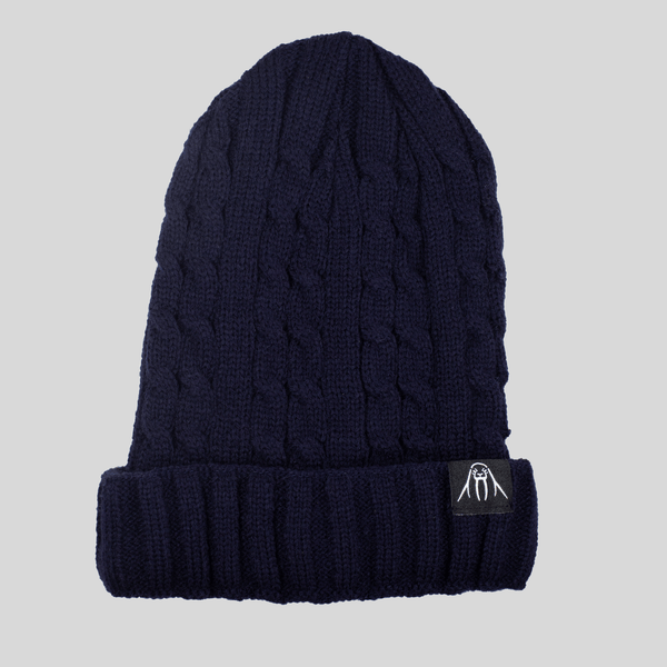 Upper Playground - Lux - UP Cable Cuff Beanie in Navy
