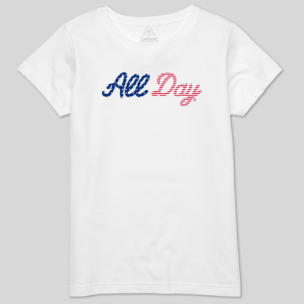 5S - ALL DAY AMERICA - WOMEN'S CREW TEE