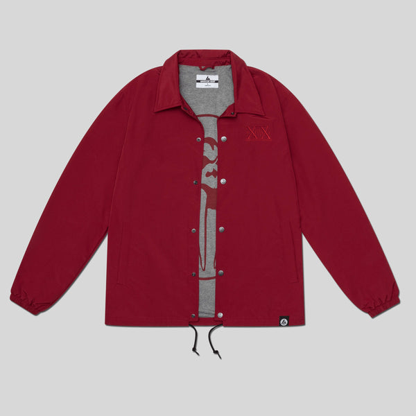 Upper Playground - Lux - UP x AG Coaches Jacket in Cardinal