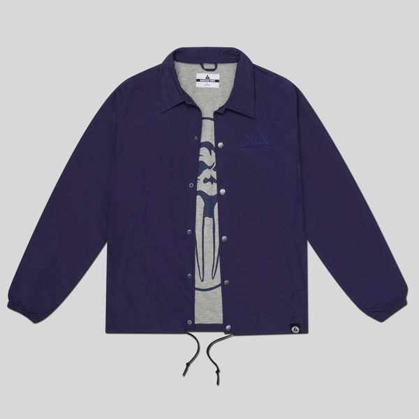 Upper Playground - Lux - UP x AG Coaches Jacket in Navy