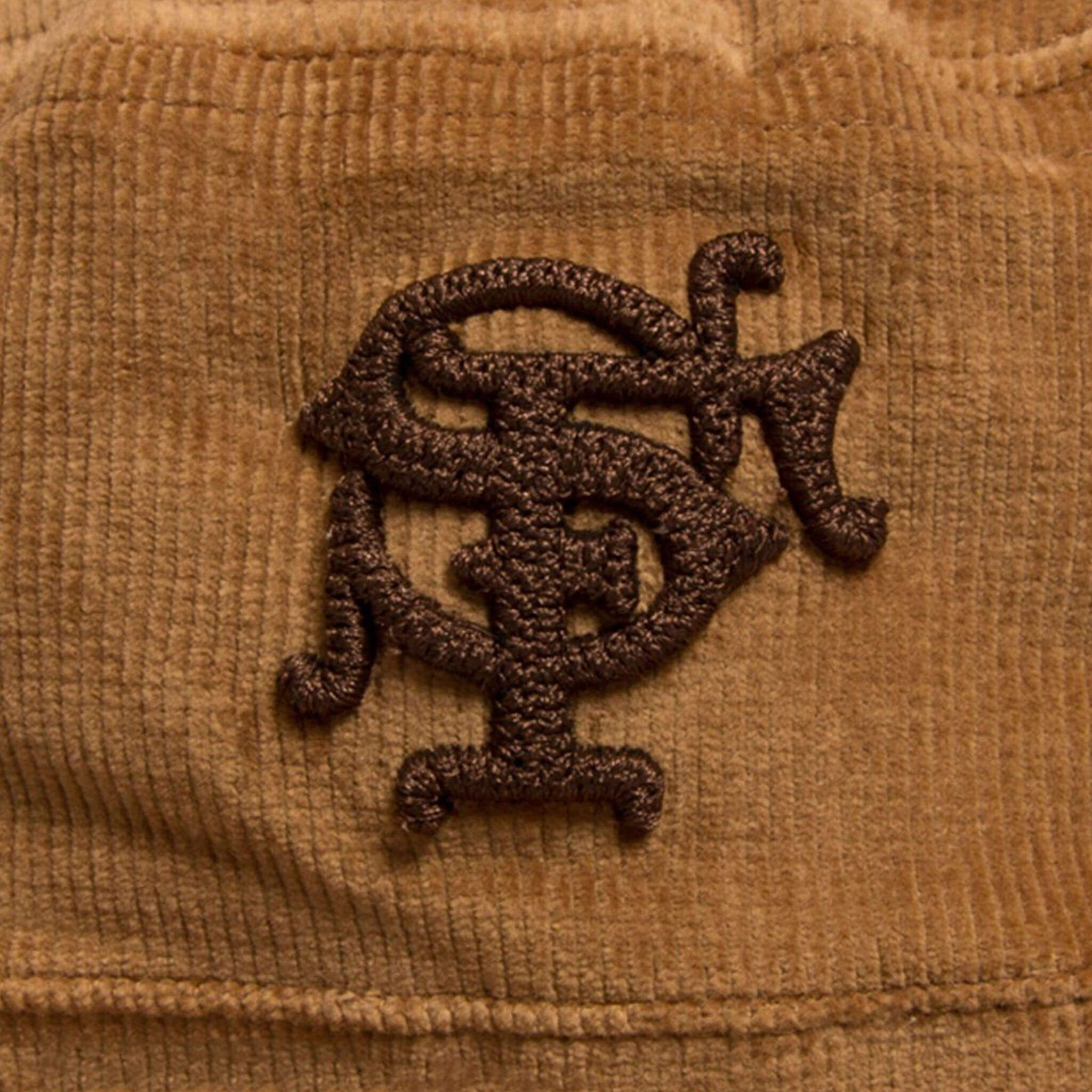 a1855e7f92 Upper Playground - Lux - SF MONOGRAM CORDUROY BUCKET HAT IN BROWN