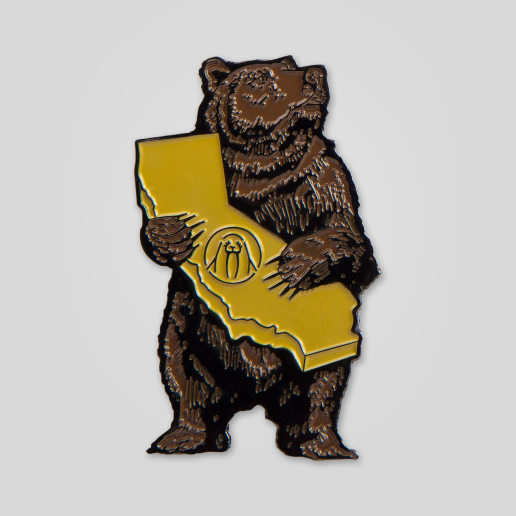 Upper Playground - Cali Bear Pin by Munk One