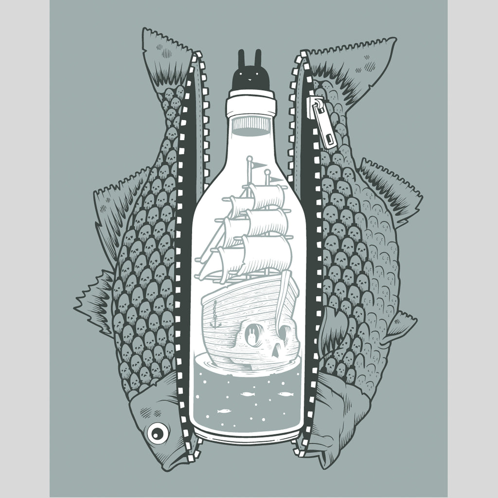 Upper Playground - Bottled Up Print by Jeremy Fish