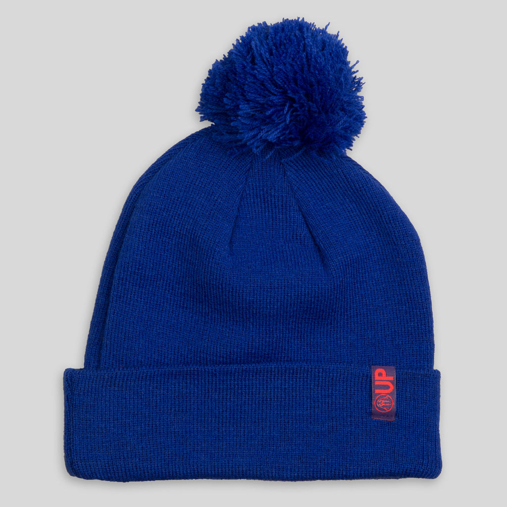 Upper Playground - The Budino Pom Beanie in Royal Blue