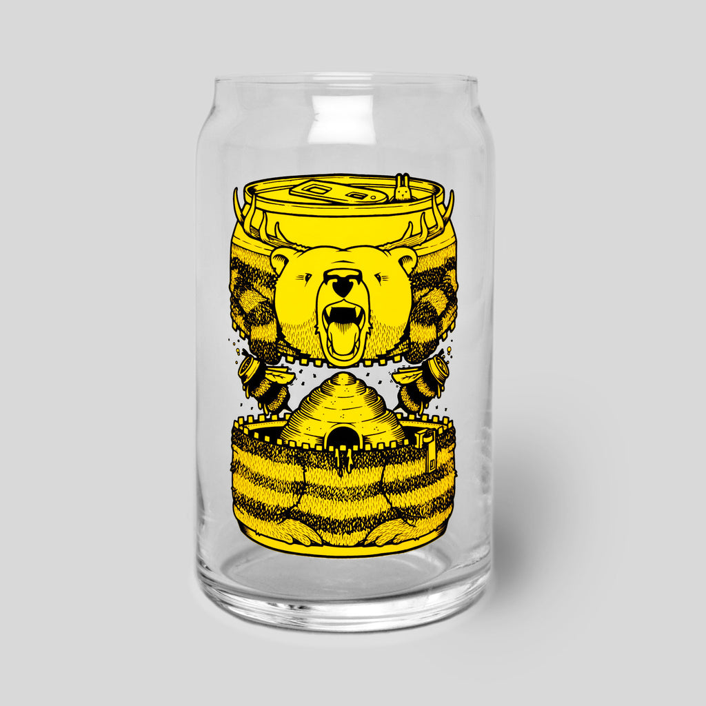 Upper Playground - Bumble Beer Glass Can by Jeremy Fish