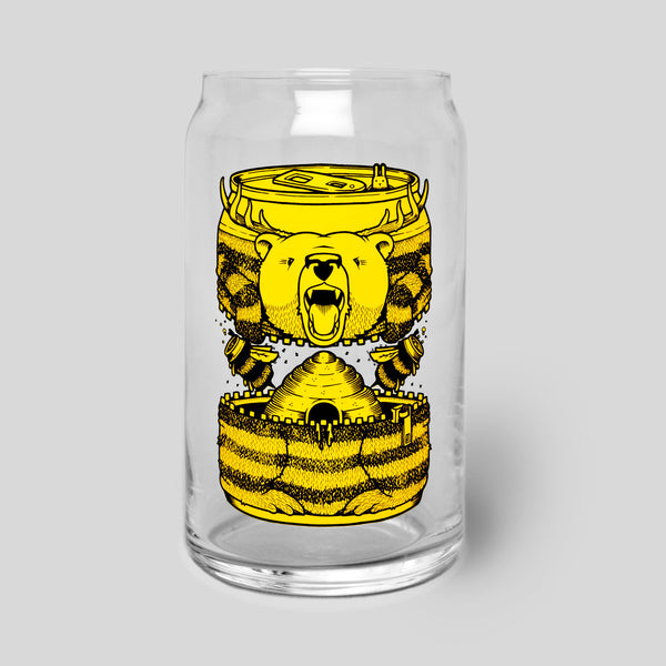 Upper Playground - Lux - Bumble Beer Glass Can by Jeremy Fish