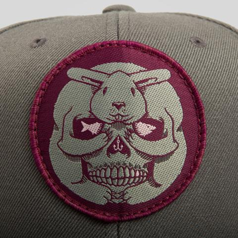 Upper Playground - Lux - BUNNY SKULL SNAPBACK IN CHARCOAL BY JEREMY FISH