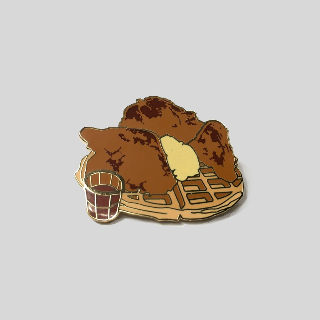 Upper Playground - Lux - Chicken And Waffles Pin by Munk One