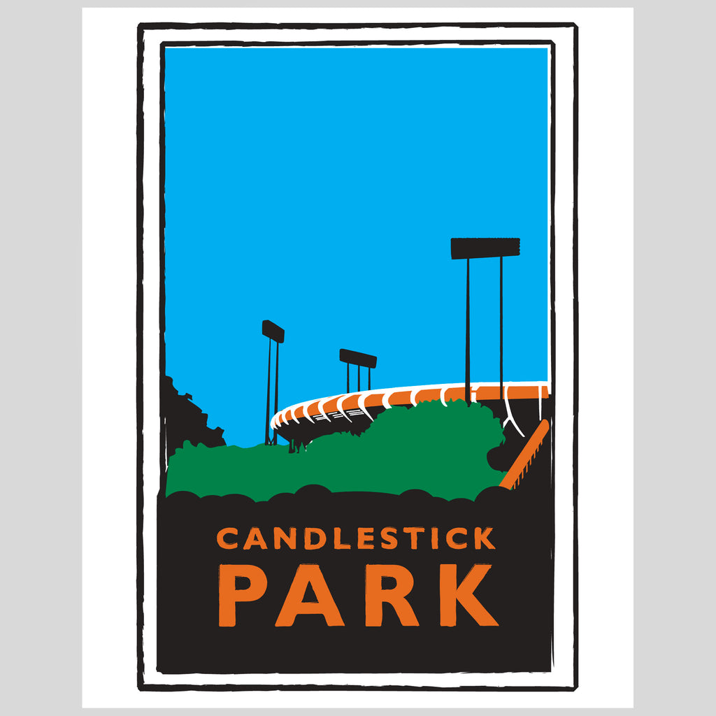 Upper Playground - Lux - Candlestick Park Print by Dustin Canalin