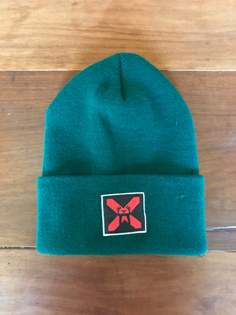 Upper Playground - Lux - EYES FRONT BEANIE IN FOREST GREEN