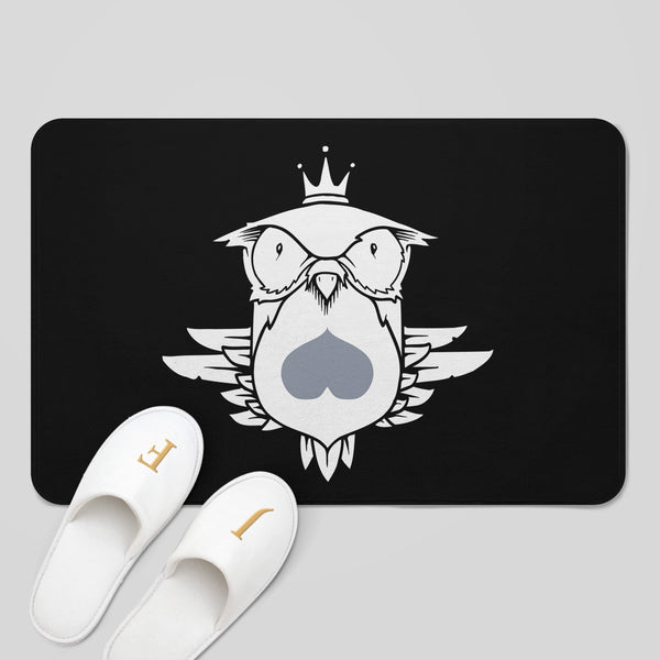 MWW - Fowl Mood Bath Mat by Jeremy Fish
