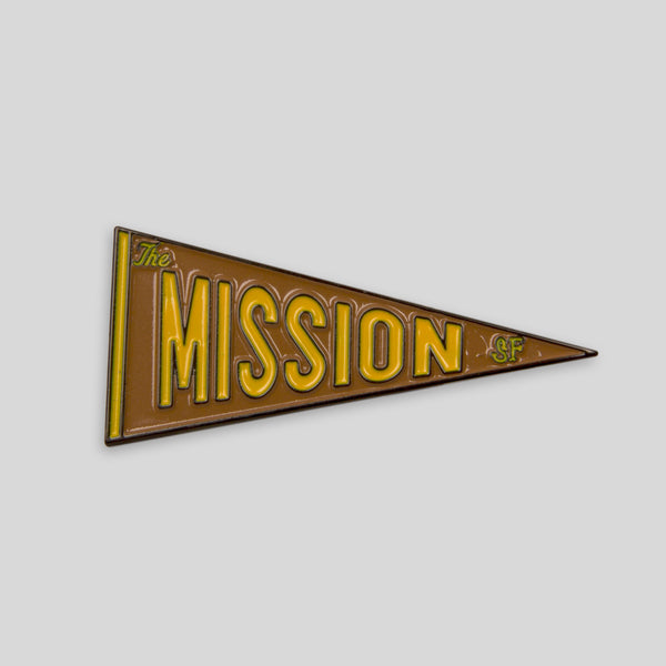 Upper Playground - Lux - The Mission Pennant Pin