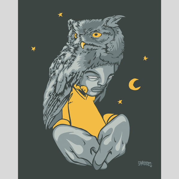 Upper Playground - Lux - Night Owl Print by Sam Flores