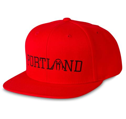 Upper Playground - Lux - Portland Official Snapback in Red