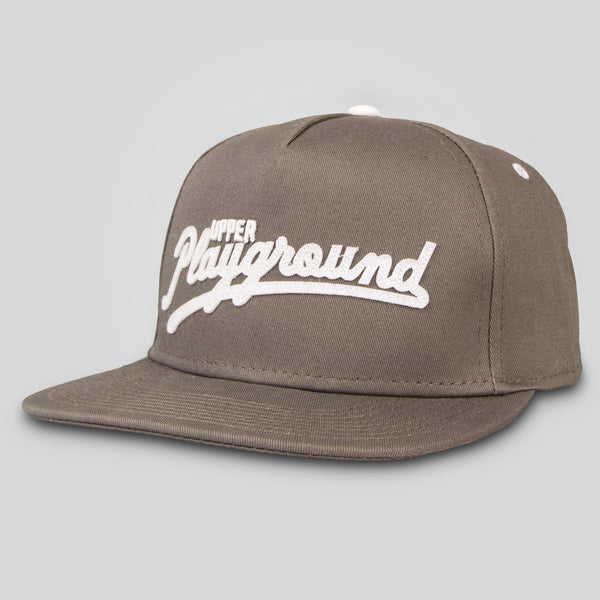 Upper Playground - Sandlot Script Snapback in Charcoal