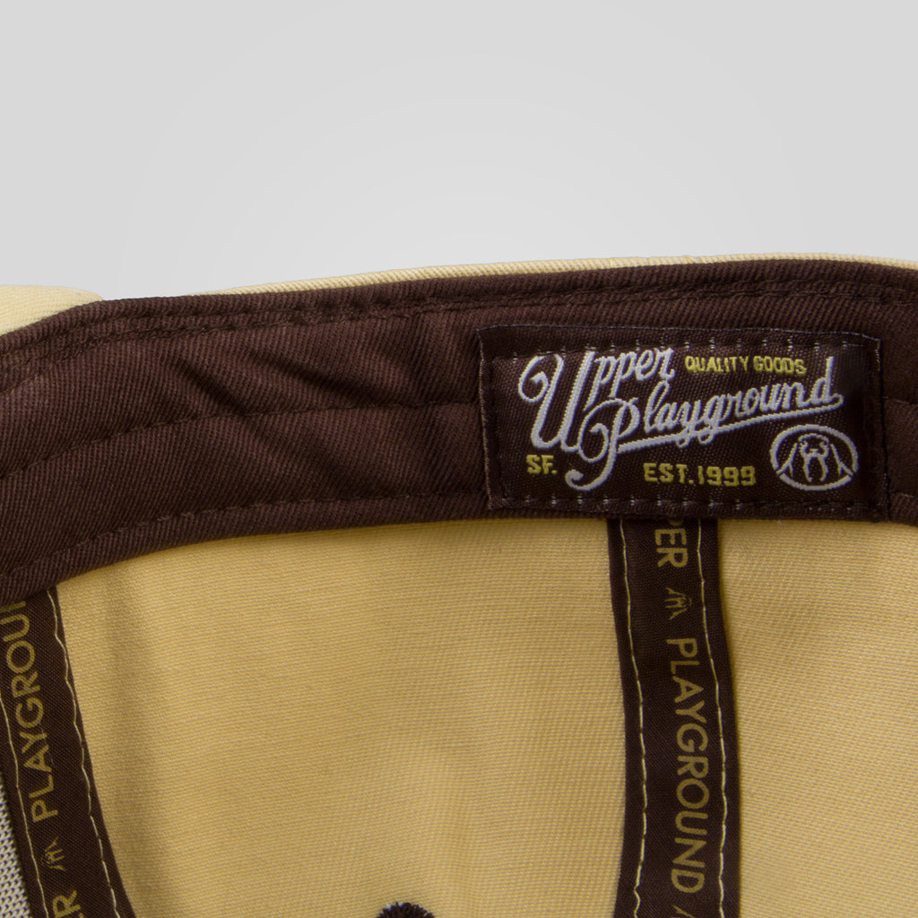 Upper Playground - Lux - Sandlot Script Snapback in Tan