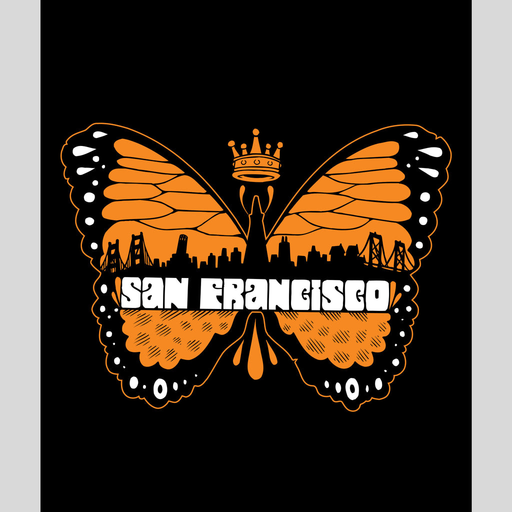 Upper Playground - SF Butterfly Print by Jeremy Fish