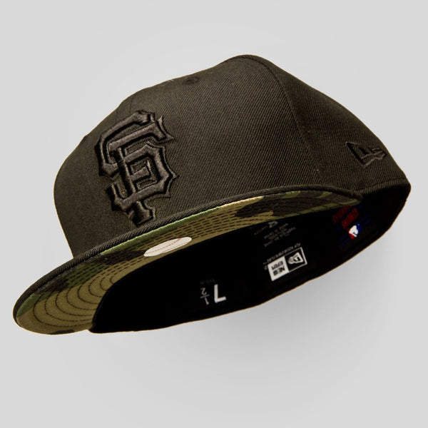Upper Playground - Lux - SF GIANTS NEW ERA FITTED CAP IN BLACK & CAMO