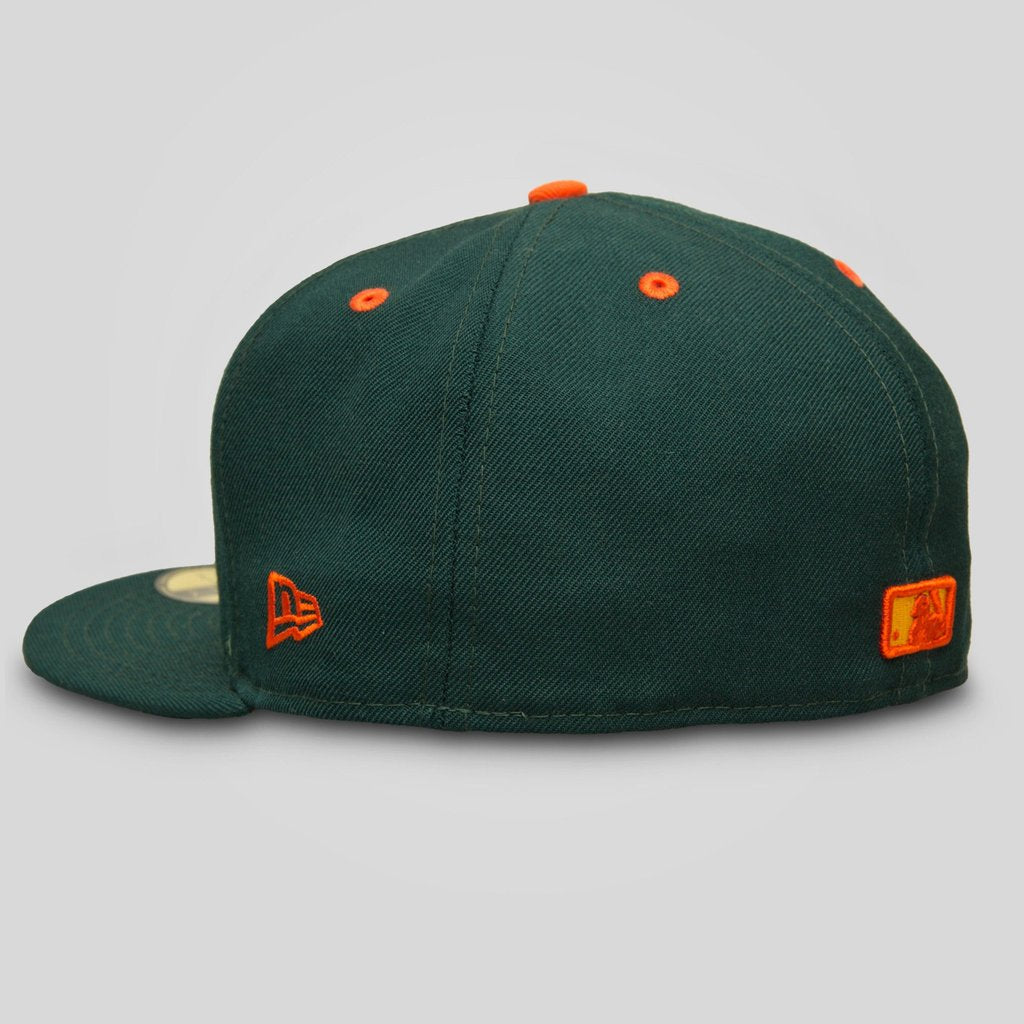 Upper Playground - Lux - SF GIANTS NEW ERA FITTED CAP IN FOREST GREEN AND JUNGLE FLORAL
