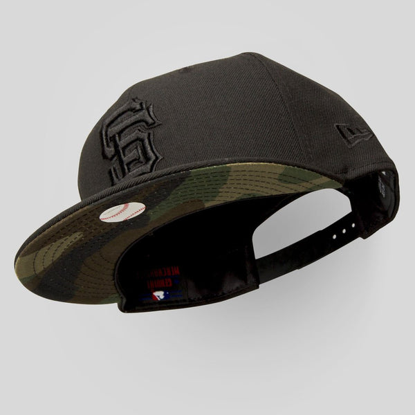 Upper Playground - Lux - SF Giants New Era Snapback in Black & Camo