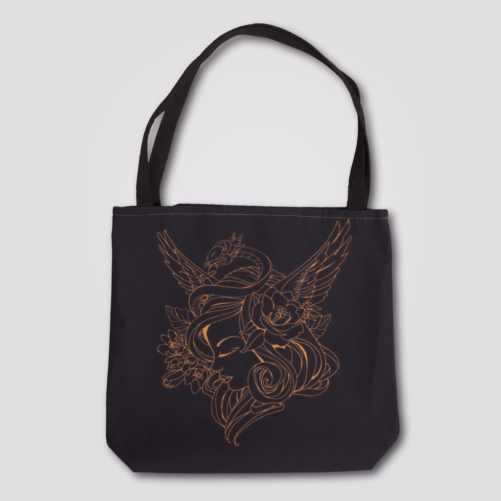 Upper Playground - Snake Girl Tote by Sam Flores